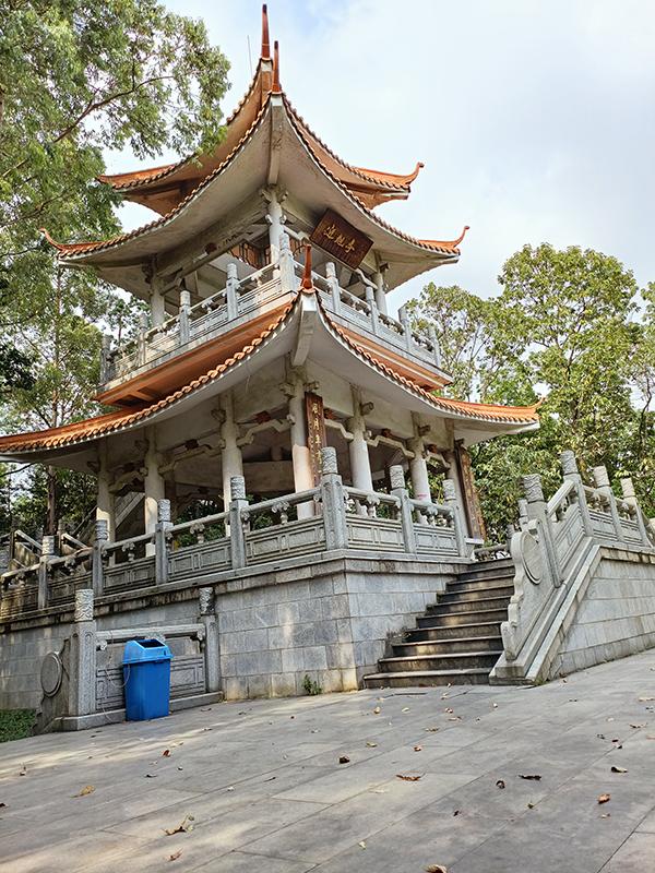 周末独行广州龙头山,一个人少僻静之处,爬爬阶梯